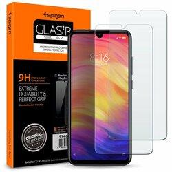 [Pachet 2x] Folie Protectie Xiaomi Redmi Note 8 Sticla Spigen GlassTR - Clear