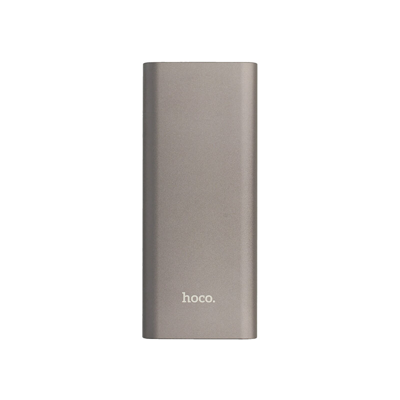 Baterie Externa Hoco J51 Cool Power Bank 2xUSB + USB Type-C PD 3.0 QC 10000mAh - Metal Gray