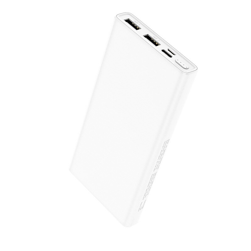 Baterie Externa Hoco J55 Neoteric Mobile Power Bank Dual-USB 2A With LED Indicator 10000mAh - White