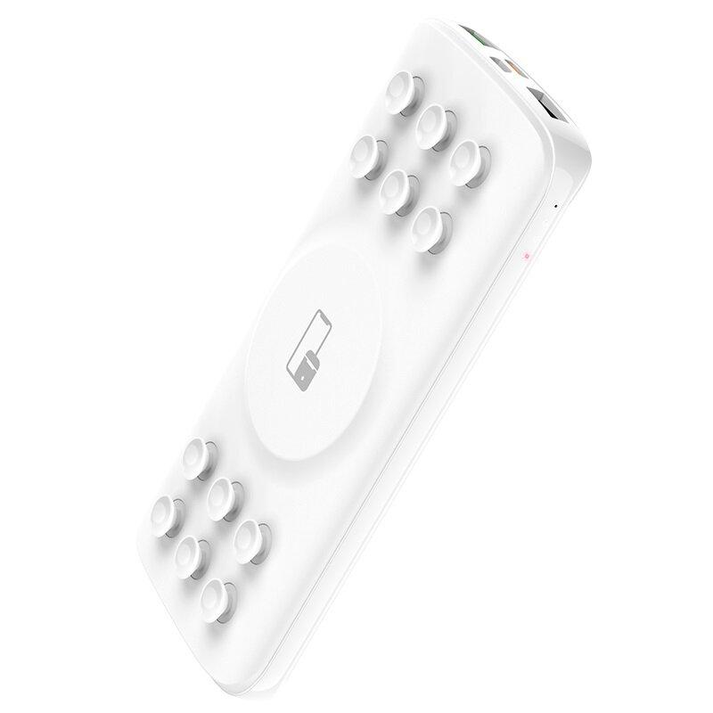 Baterie Externa Hoco J56 Sea Power 4-in-1 Wireless 10W/7.5W/5W USB/Type-C LED Indicator 10000mAh - White