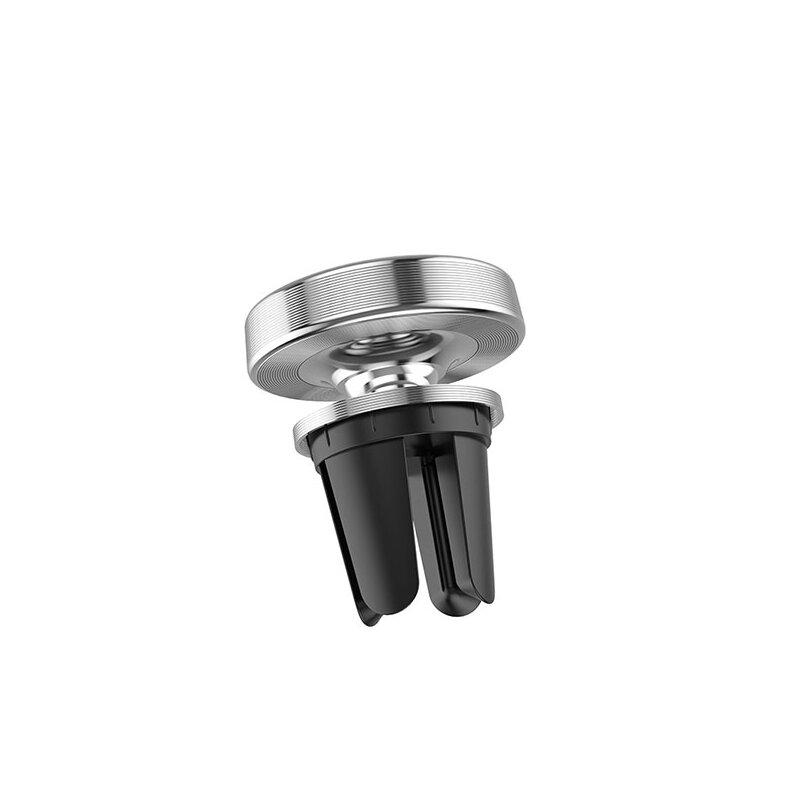 Suport Auto Hoco CA47 Metal Magnetic In-car Holder Aluminum Alloy Pentru Grila De Ventilatie - Silver