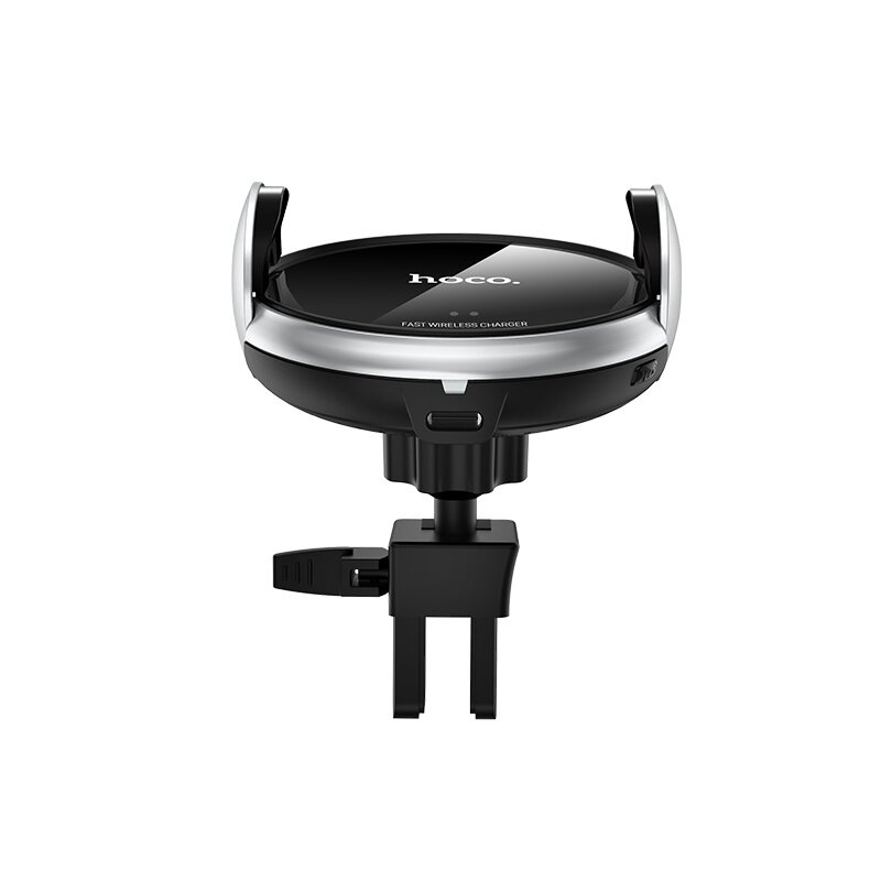 Suport Auto Hoco CA48 Automatic Induction Wireless Fast Charging Air Outlet/Suction Base Mount 15W - Black
