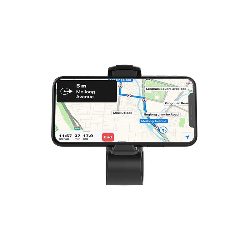 Suport Auto Hoco CA50 In-car Dashboard Phone Holder Cu Prindere In Spatele Volanului 7 inci - Black