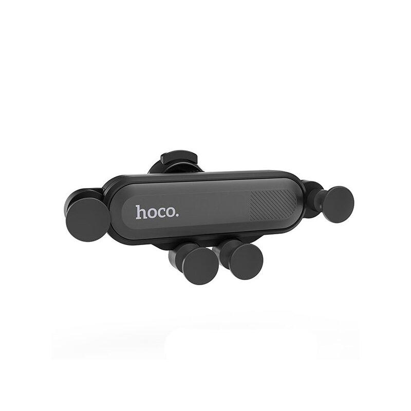 Suport Auto Hoco CA51 Universal Air Outlet Gravity Mount Bracket Pentru Grila Ventilatie - Black