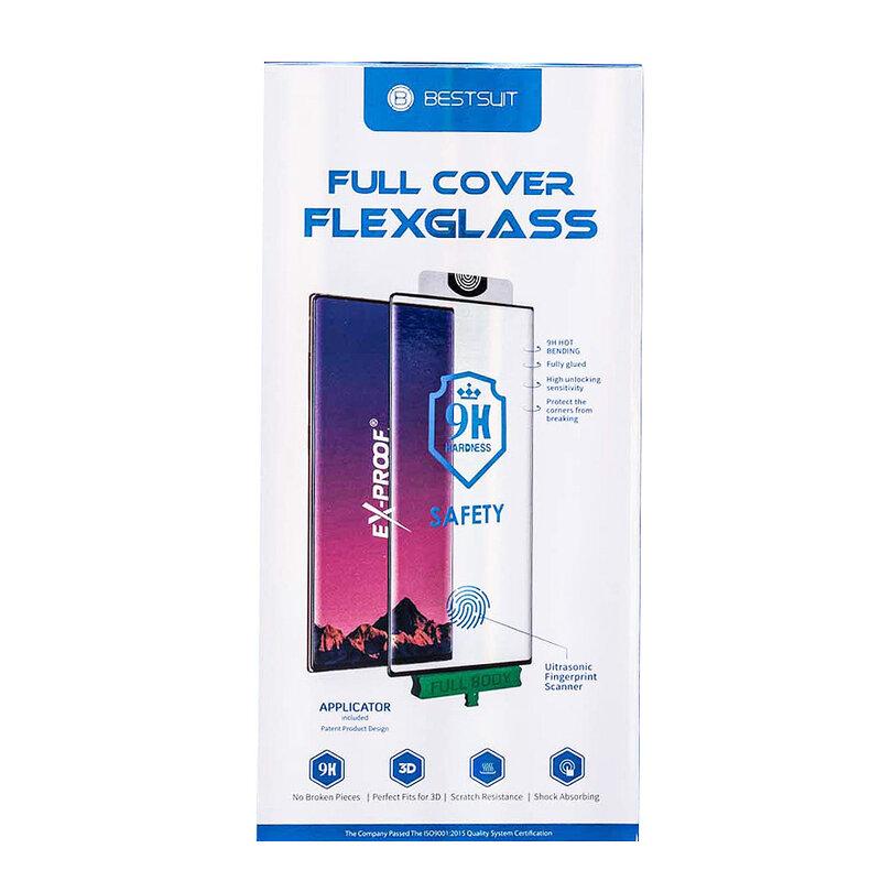 Folie Huawei Mate 30 Pro Bestsuit Fullcover Flexible Glass 9H Hot Bending V2 - Negru