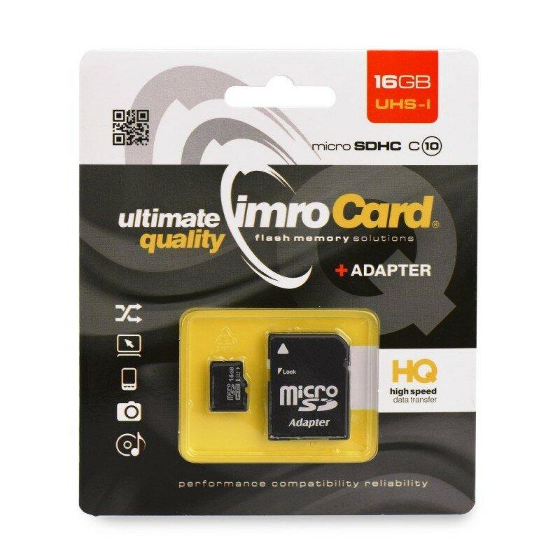 Card de memorie Imro Micro SD-UHS 16 GB Class 4 + Adaptor SD