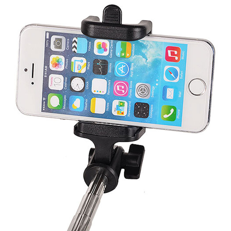 Suport Selfie Stick Locust Series Wireless Premium With Build-in Bluetooth Shutter Button - Type 3 - Black