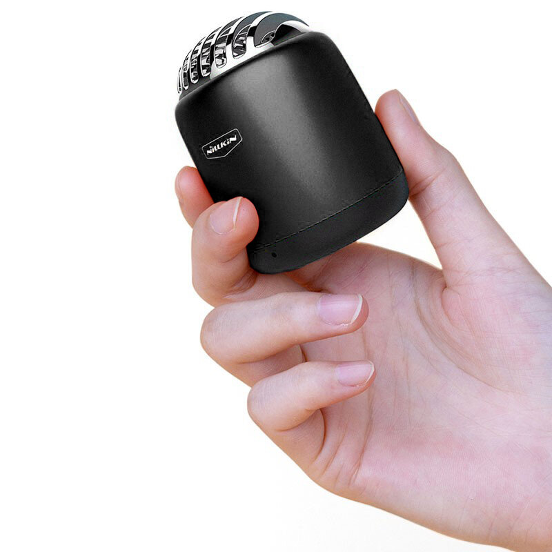 Boxa Portabila Nillkin Bullet Mini Aluminum TWS Bluetooth 4.2 Portable Wireless Built-in Mic 2W - Black