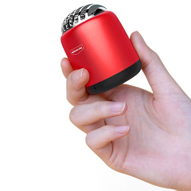 Boxa Portabila Nillkin Bullet Mini Aluminum TWS Bluetooth 4.2 Portable Wireless Built-in Mic 2W - Red