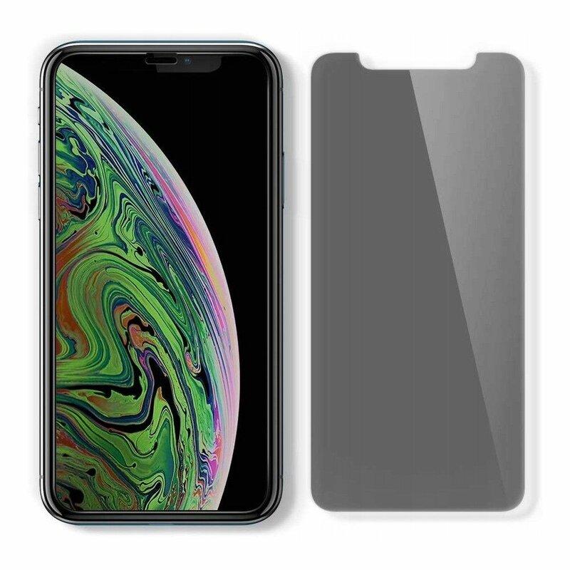 Folie Sticla iPhone XS Max Spigen Glas.t R Align Master Privacy - Black