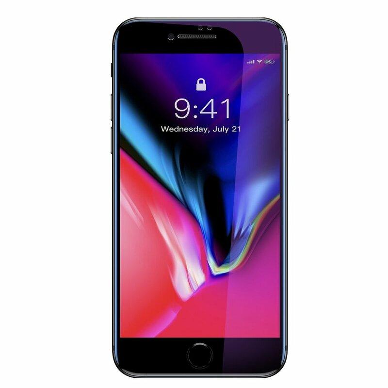 [Pachet 2x] Folie Sticla iPhone 7 Baseus Anti-Bluelight - SGAPIPH8N-HPE01 - Negru
