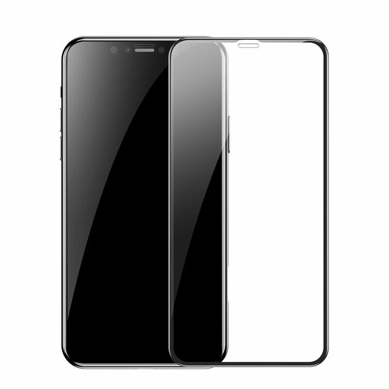 [Pachet 2x] Folie iPhone 11 Pro Max Baseus Pet Soft - SGAPIPH65-APE01 - Negru