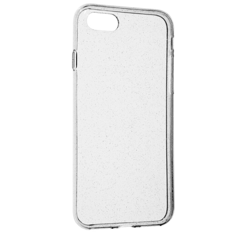 Husa iPhone 7 Silicon Crystal Glitter - Transparent