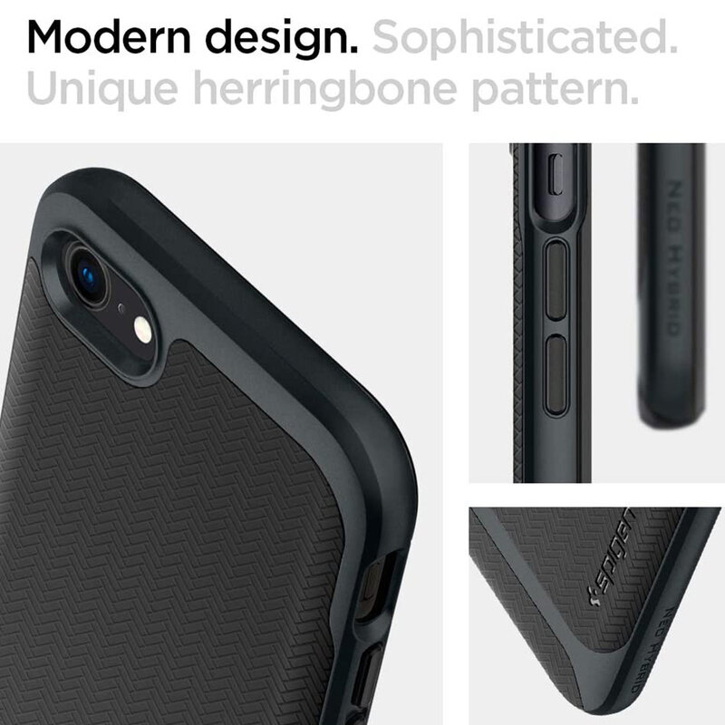 Husa iPhone 7 Spigen Neo Hybrid Herringbone - Metal Slate