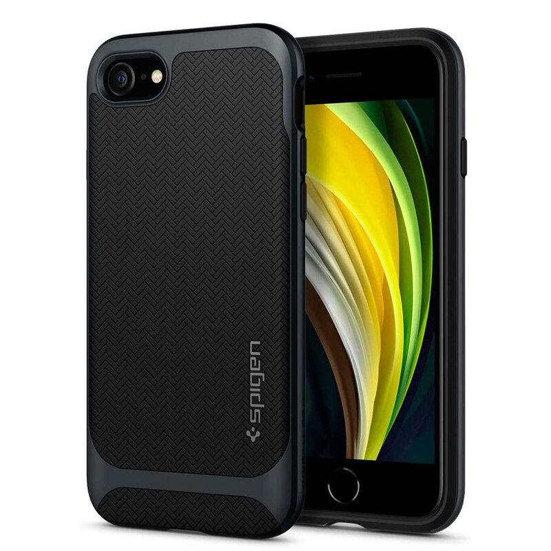 Husa iPhone SE 2, SE 2020 Spigen Neo Hybrid Herringbone - Metal Slate