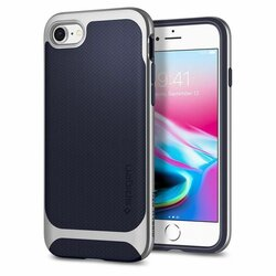 Husa iPhone 8 Spigen Neo Hybrid Herringbone - Satin Silver