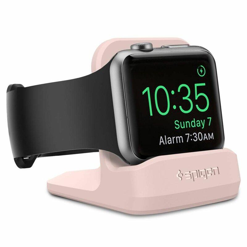 Suport Apple Watch 1/2/3/4/5 Spigen S350 Night Stand Pentru Birou - Pink Sand