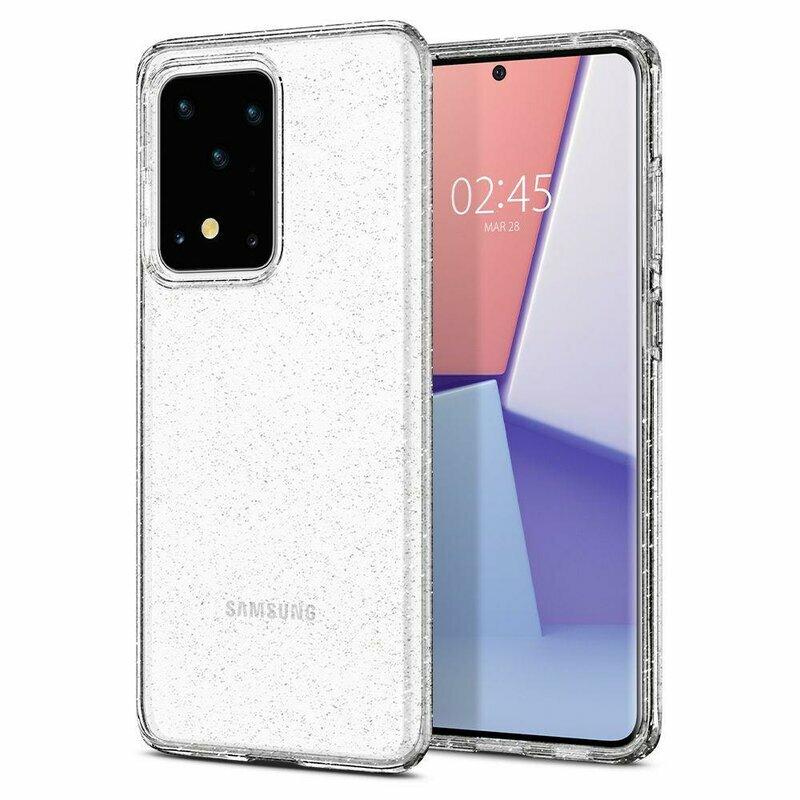 Husa Samsung Galaxy S20 Ultra 5G Spigen Liquid Crystal - Glitter - Crystal Quartz