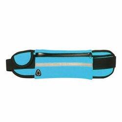 Husa Alergare Tip Curea Jogging Ajustabila Cu Suport Sticla Apa, Telefon, Chei - Albastru
