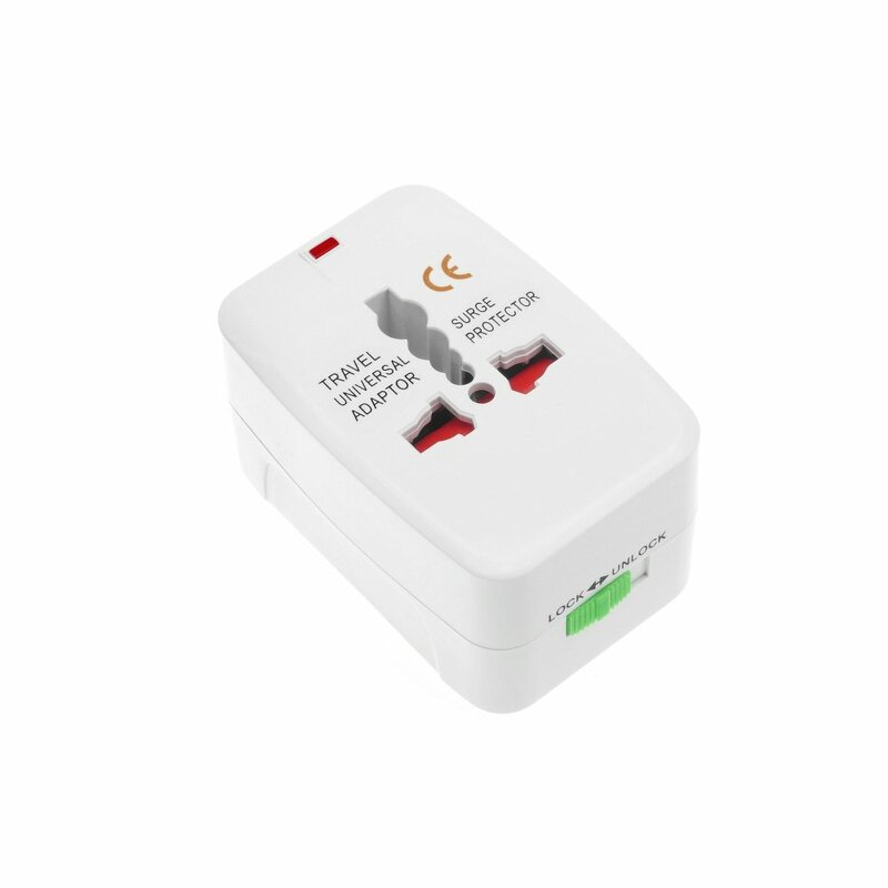 Adaptor Priza Universal For Travel Charger All-in-One International USA / EU / UK / AU Standard - White