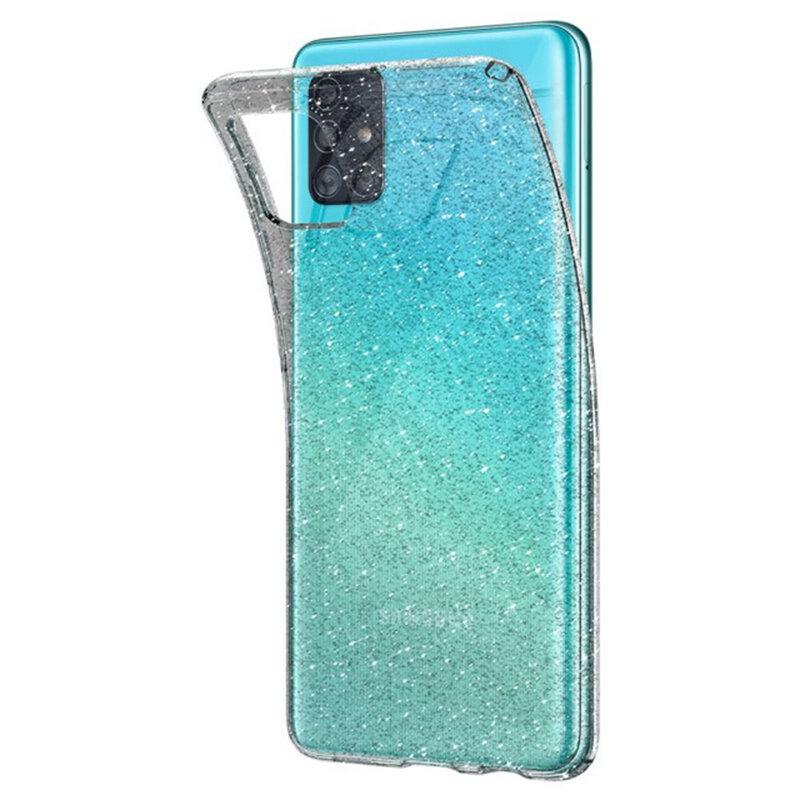 Husa Samsung Galaxy A51 Spigen Liquid Crystal - Glitter - Crystal Quartz