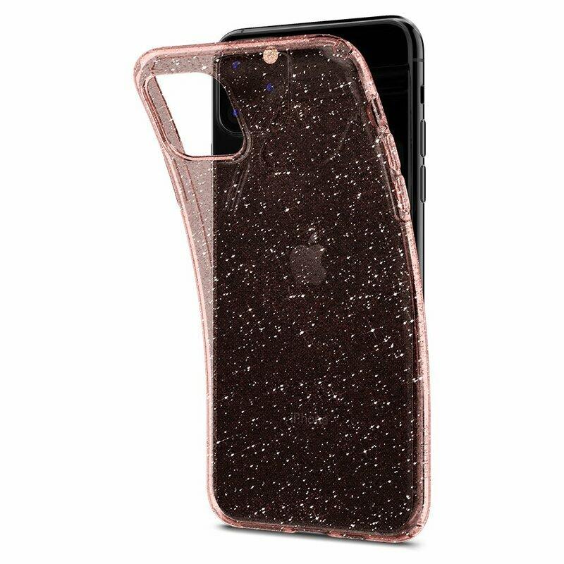 Husa iPhone 11 Pro Max Spigen Liquid Crystal - Glitter - Rose Quartz
