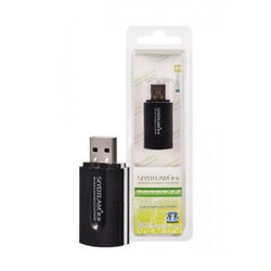 Card Reader Siyoteam SY-596 Universal 4 in 1 USB 2.0 All in One Support TF/SD/MMC/MS/M2/CF - Black