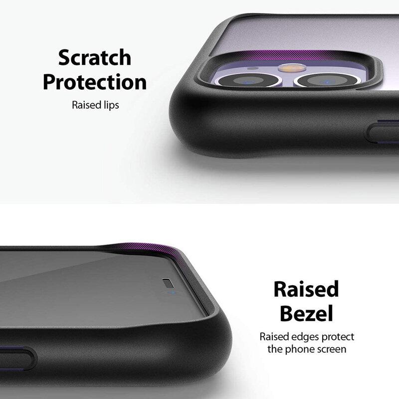 Husa iPhone 11 Ringke Fusion Matte - Black