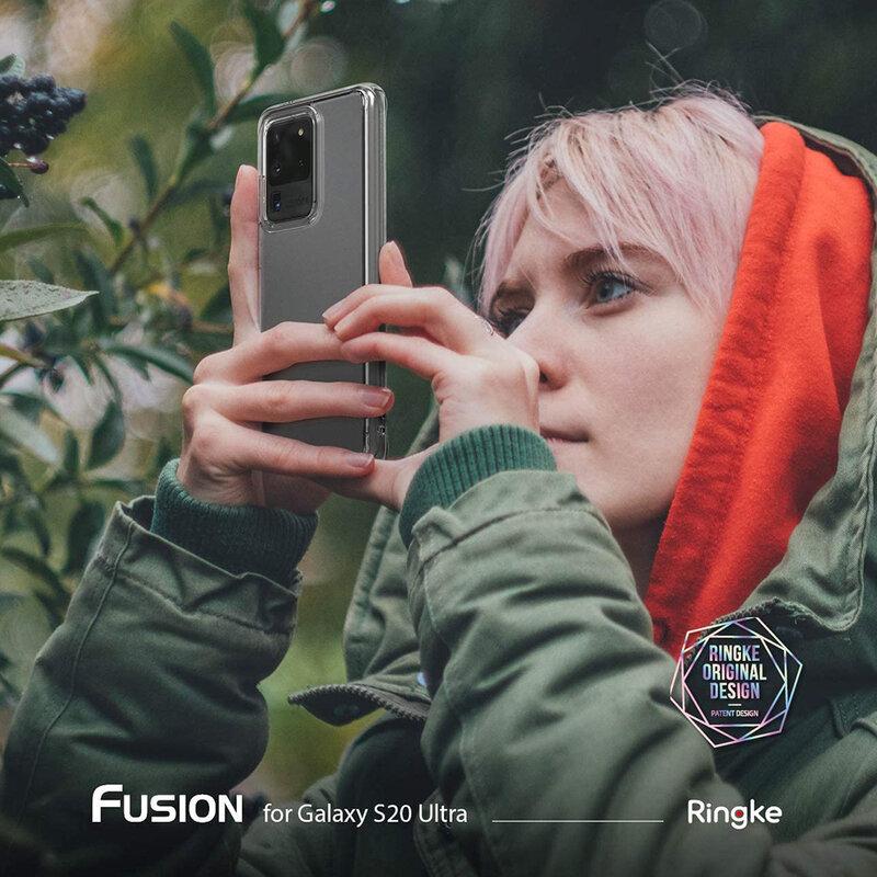 Husa Samsung Galaxy S20 Ultra 5G Ringke Fusion Matte - Clear