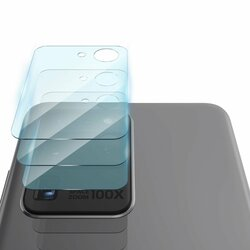 [Pachet 3x] Folie Sticla Camera Samsung Galaxy S20 Ultra 5G Ringke Invisible Defender Rear Tempered - Clear