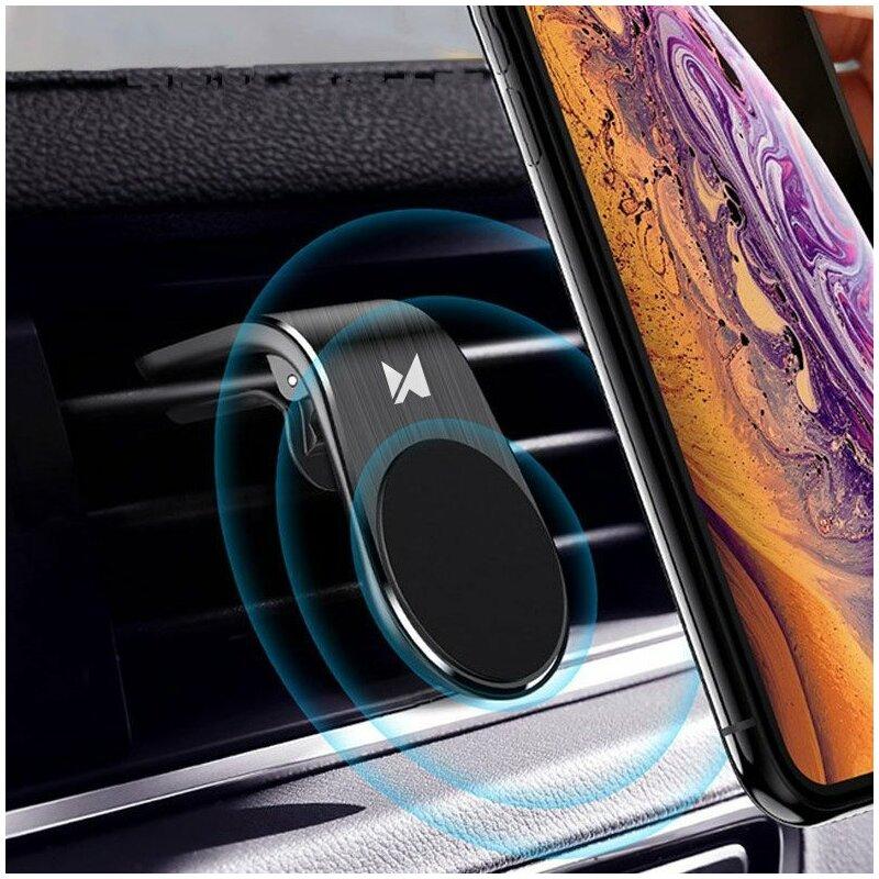 Suport Auto Wozinsky Universal Magnetic Bracket Mount Phone Holder Pentru Grila De Ventilatie - WCH-02 - Black