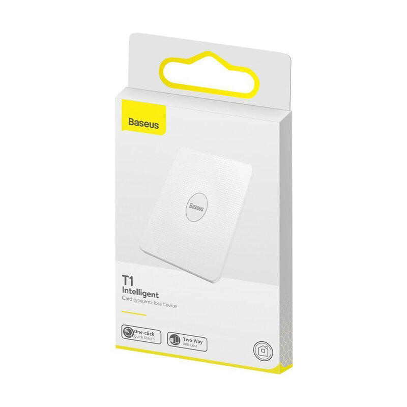Card Antifurt Baseus T1 Mini Flat Type Anti-loss Cu Localizator GPS Si Alarma Anti-pierdere - ZLFDQT1-02 - White