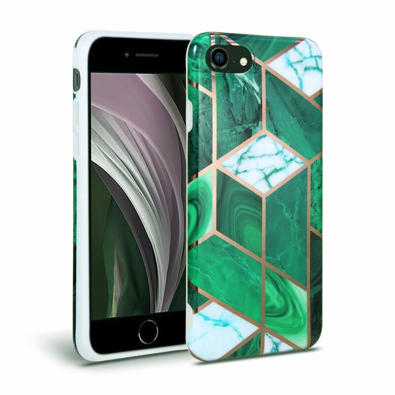 Husa iPhone 8 Tech-Protect Marble - Verde