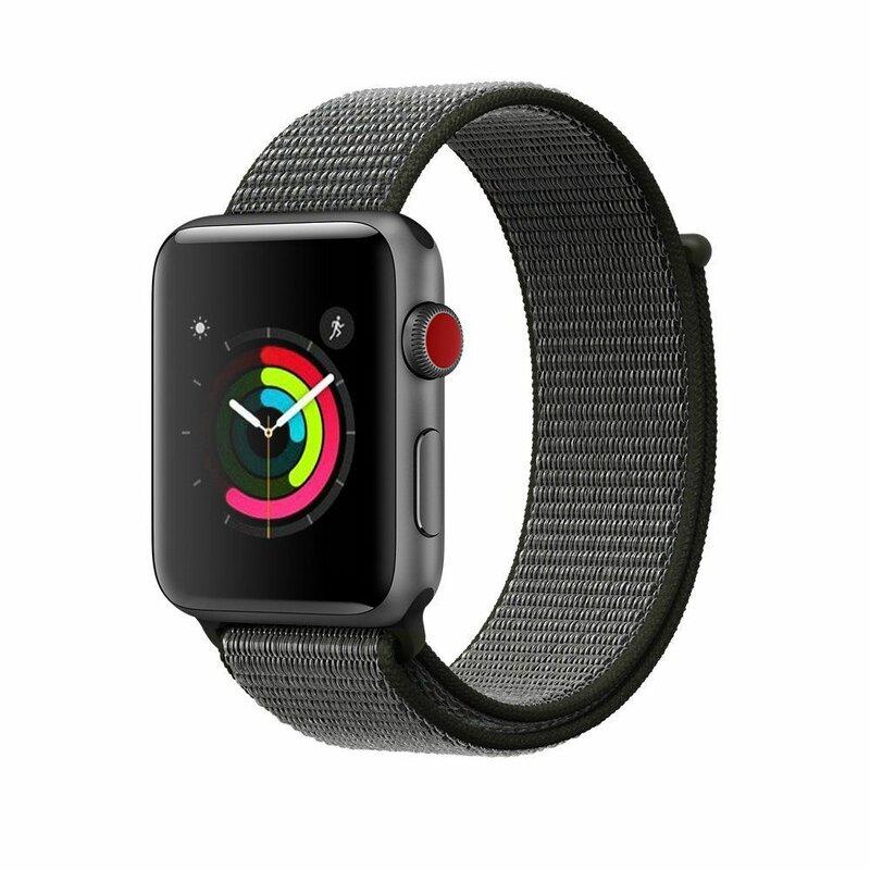 Curea Apple Watch 5 44mm Tech-Protect Nylon - Dark Olive