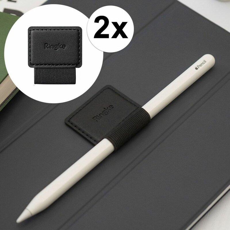 [Pachet 2x] Suport Stylus Pen Ringke Loop Autoadeziv Telefon/Tableta - Negru
