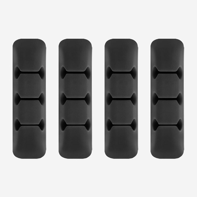 [Pachet 4x] Organizator cabluri Ringke Silicone One Color Autoadeziv Pentru Birou - ACOR0002 - Black