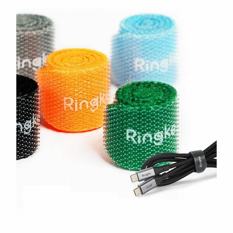 [Pachet 10x] Organizator Cabluri Ringke Magic Cable Tie Velcro Assorted Colors Pentru Birou - Multicolor