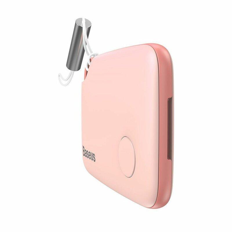 Dispozitiv Antifurt Baseus T2 Mini Ropetype Anti-loss Device Finder Pentru Chei Cu Snur - ZLFDQT2-04 - Pink