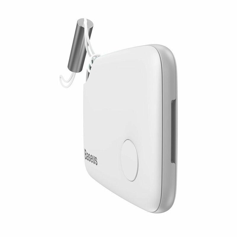 Dispozitiv Antifurt Baseus T2 Mini Ropetype Anti-loss Device Finder Pentru Chei Cu Snur - ZLFDQT2-02 - White
