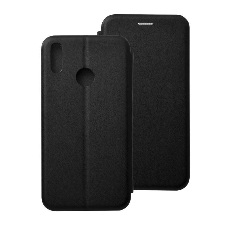 Husa Huawei Y7 2019 Flip Magnet Book Type - Black