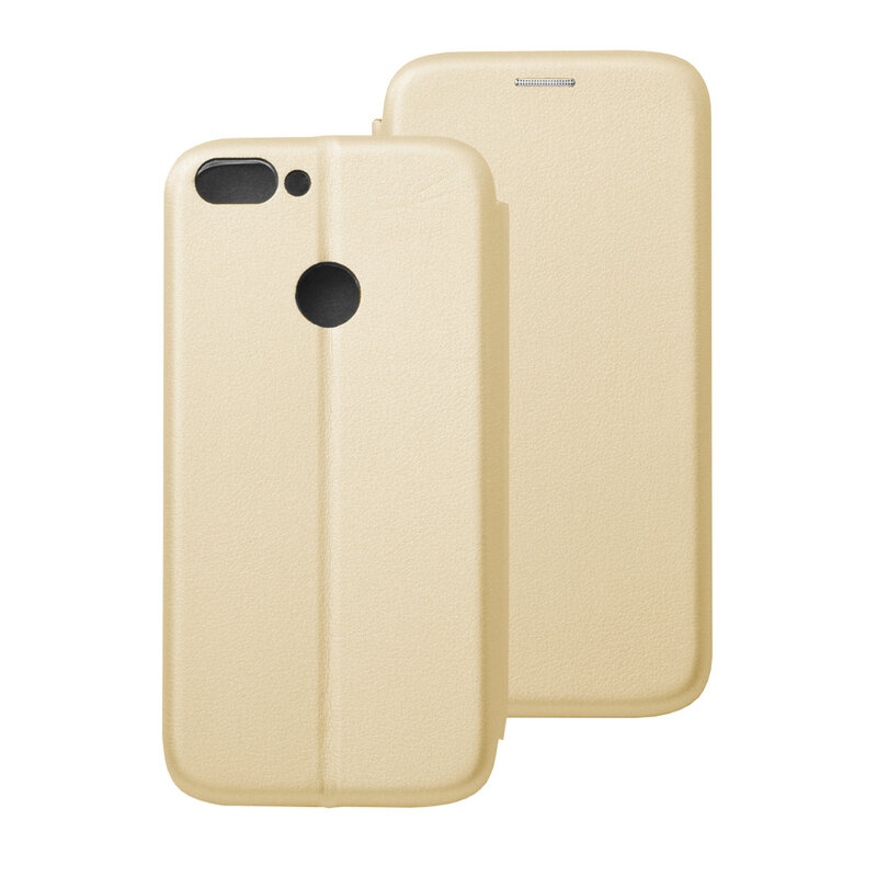Husa Huawei P Smart Flip Magnet Book Type - Gold