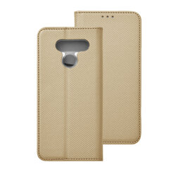 Husa Smart Book LG Q60 Flip - Auriu
