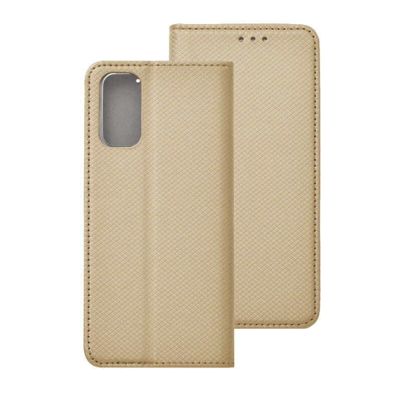 Husa Smart Book Samsung Galaxy S20 5G Flip - Auriu