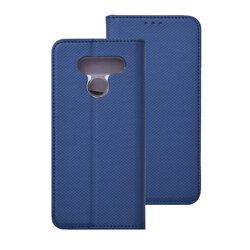 Husa Smart Book LG Q60 Flip - Albastru