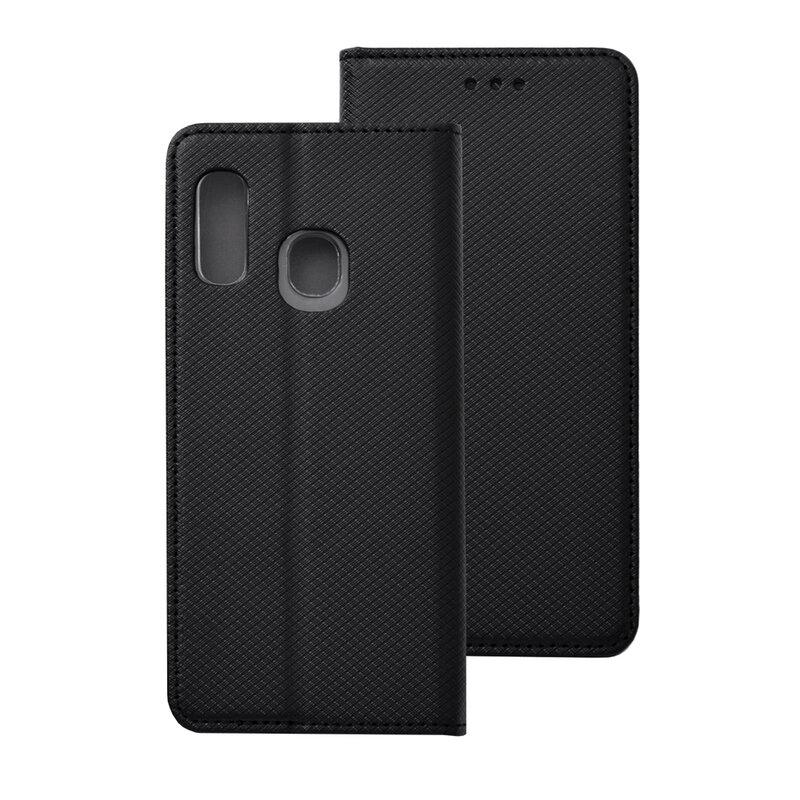 Husa Smart Book Samsung Galaxy A20e Flip - Negru