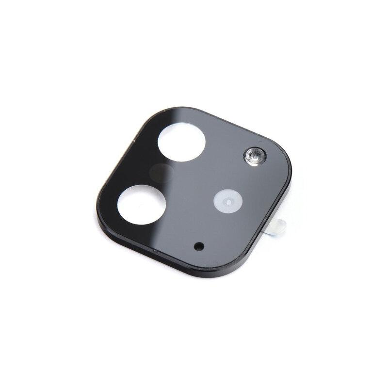 Folie Sticla Iphone X / XS / XS Max Protectie Lentile Fake Camera Cover Imitatie 11 Pro Cu  Insertii De Aluminiu - Black