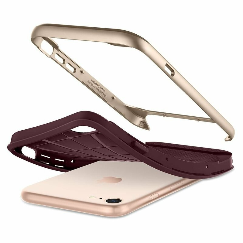 Husa iPhone 7 Spigen Neo Hybrid Herringbone - Burgundy