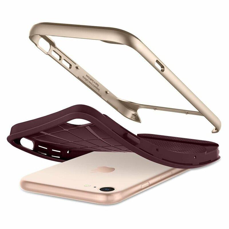 Husa iPhone 8 Spigen Neo Hybrid Herringbone - Burgundy