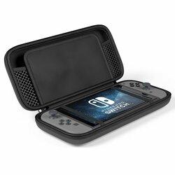 Husa Nintendo Switch Tech-Protect Hardpouch Geanta Cu Spatii De Depozitare Si Fermoar Impermeabila - Black