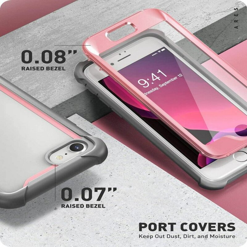 [Pachet 360°] Husa iPhone 7 i-Blason Ares + Folie Ecran - Pink